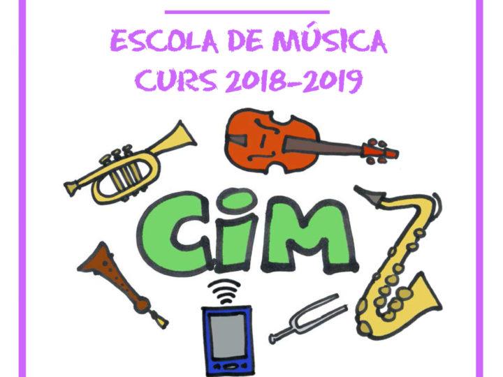 Inici del curs 2018-2019 a l'Escola de Música Hipòlit Martínez.
