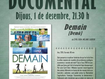 Cinema: Demain [Demà], dijous 1 de desembre, 21.30 h.