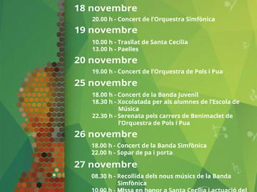 Santa Cecília, el cap de setmana gros: 25, 26 i 27 de novembre de 2016.