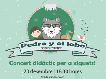 """""""Pedro y el lobo"""", concert didàctic per a xiquets, divendres 23 de desembre, 18.30 h."""