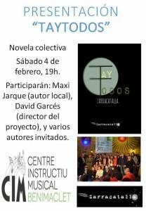CIM Benimaclet 170204 Novel·la col·lectiva TayTodos cartell