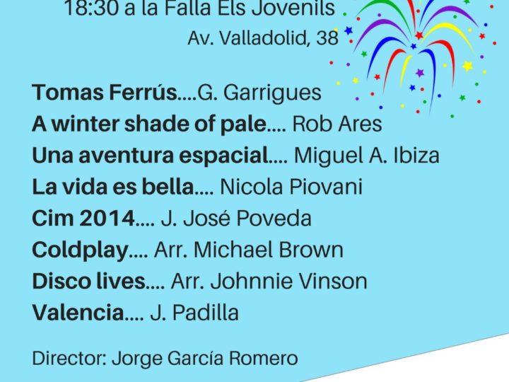 """La Banda Juvenil a la Falla """"Els Jovenils"""", diumenge 12 de març, 18.30 h."""