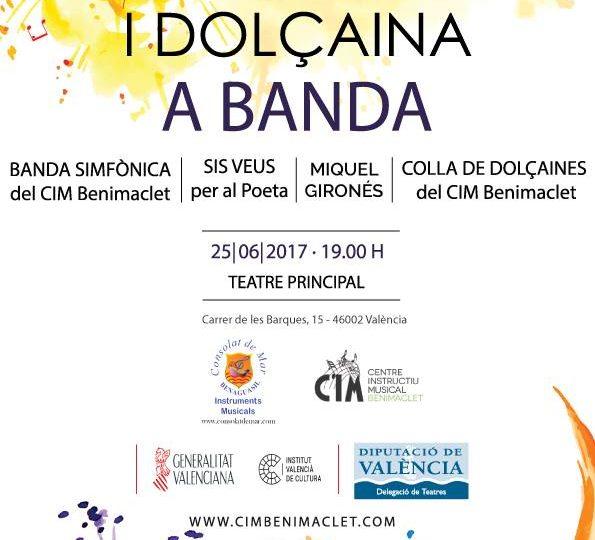"""""""Sis Veus i Dolçaina a Banda"""" al Teatre Principal de València, diumenge 25 de juny, 19.00 h."""