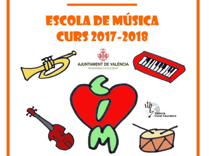 Reobrim la matriculació a l'Escola de Música Hipòlit Martínez: inici del curs, 11 de setembre.