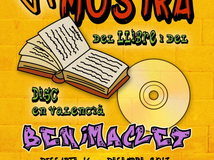 VI Mostra del Llibre i del Disc en Valencià de Benimaclet, dissabte 16 de desembre, 11.00-21.00 h.