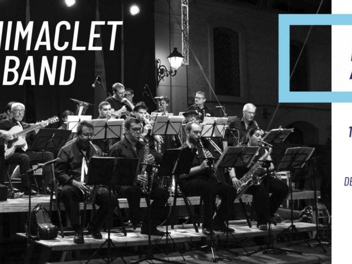 La Benimaclet Big Band a la Universitat d'Estiu de Gandia, Jardins de la Casa de la Marquesa, dimarts 17 de juliol de 2018, 22.30 h.