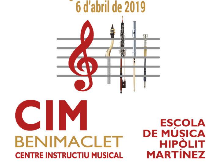 XI Concurs d'Interpretació Musical del CIM de Benimaclet, dissabte 6 d'abril de 2019: inscripció oberta fins el 29 de març.