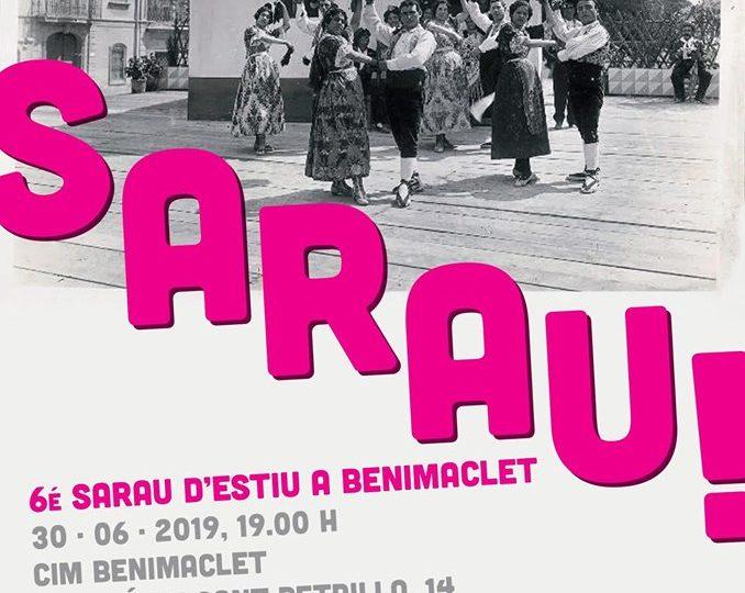 6é Sarau d'Estiu a Benimaclet, la gran festa del ball tradicional, diumenge 30 de juny de 2019 a les 19.00 h.