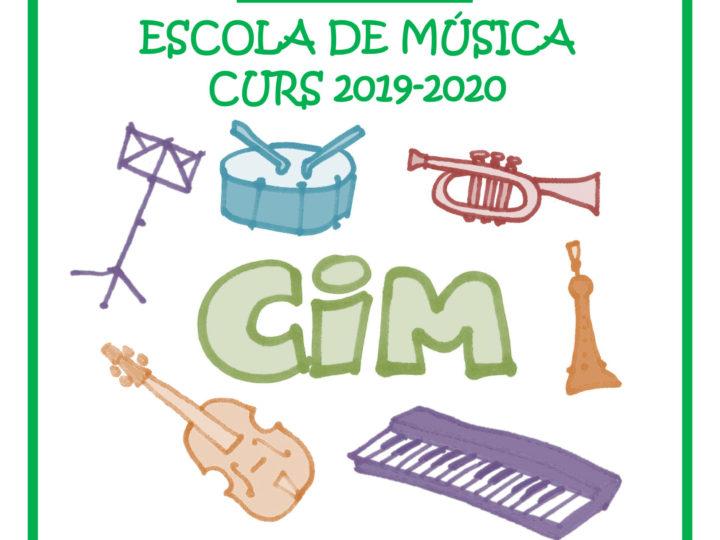 Oberta la  matrícula de l'Escola de Música Hipòlit Martínez per al curs 2019-2020 amb els solstici d'estiu, 21 de juny de 2019.