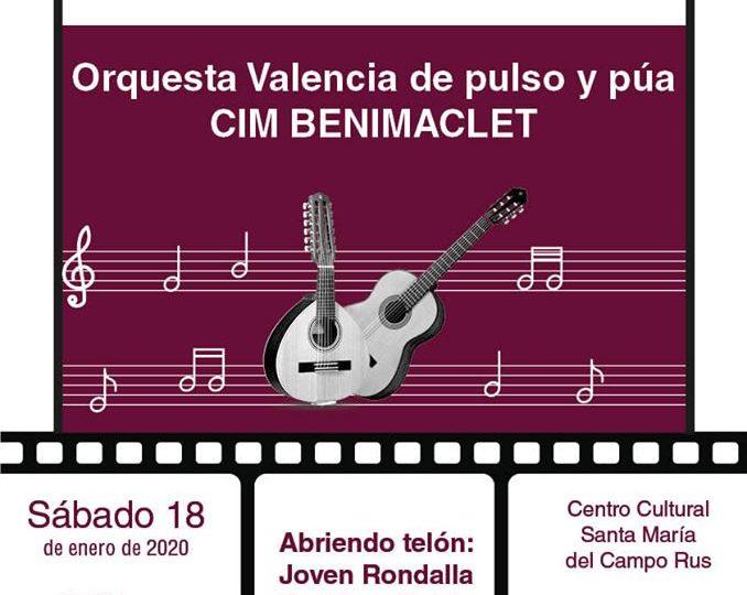 La Rondalla del CIM de Benimaclet a Santa María de Campo Rus, dissabte 18 de gener de 2020.