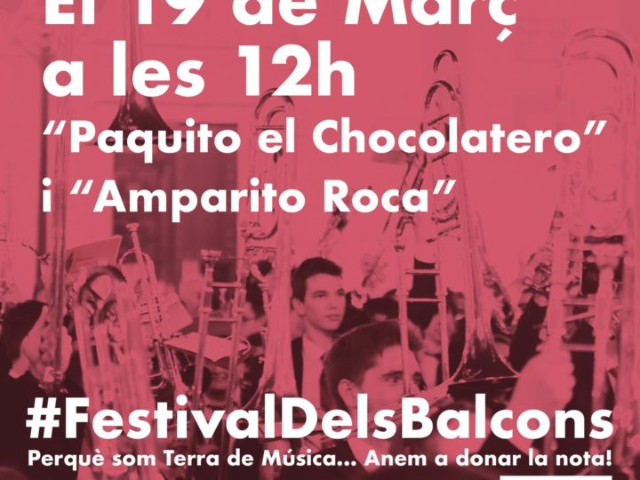 El CIM de Benimaclet al #FestivalDelsBalcons, dijous 19 de març de 2020, 12.00 h.