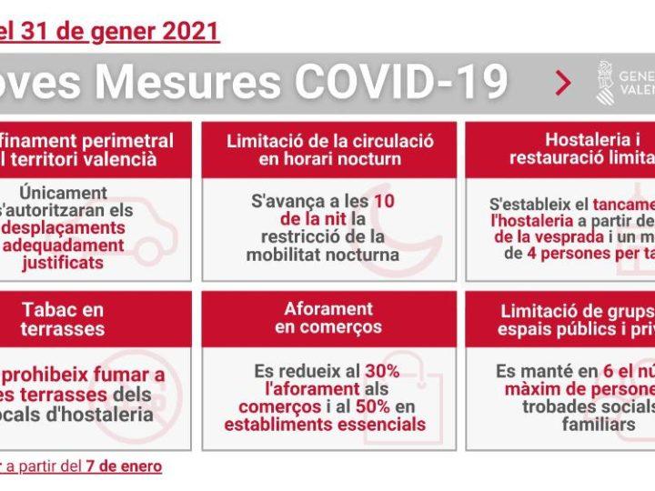 Noves mesures contra la còvid-19 a partir del 7 de gener de 2021: el CIM molt afectat.