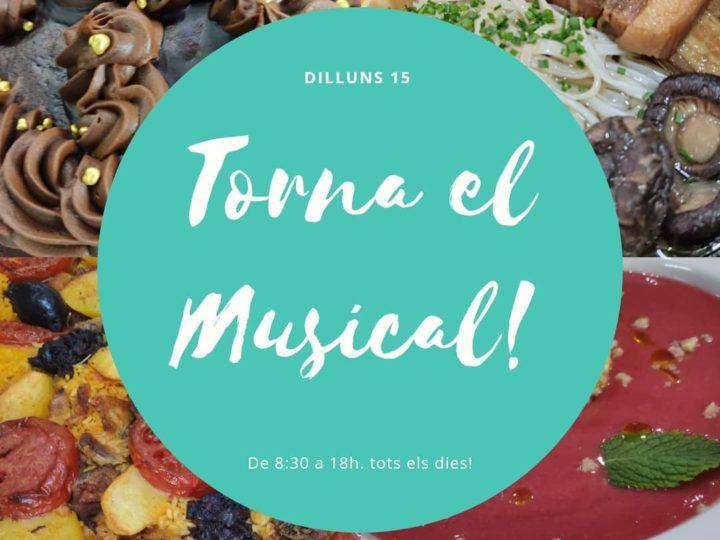 Reobrim El Musical hui, 15 de març de 2021, l'inici de la nova desescalada.