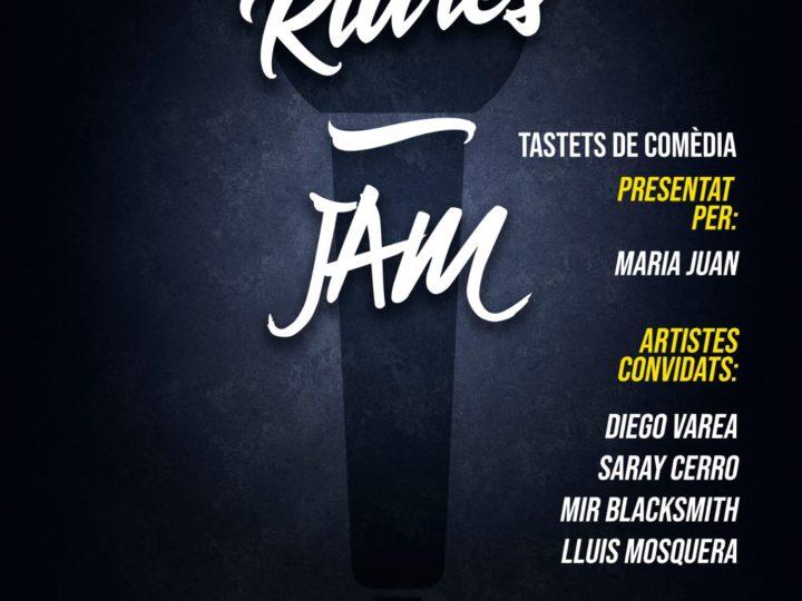 """""""Riures Jam, tastets de comèdia"""", una nova proposta lúdica i cultural, dimecres 27 d'octubre de 2021, 20.30 h."""